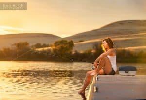 Dock Fishing at Sunset