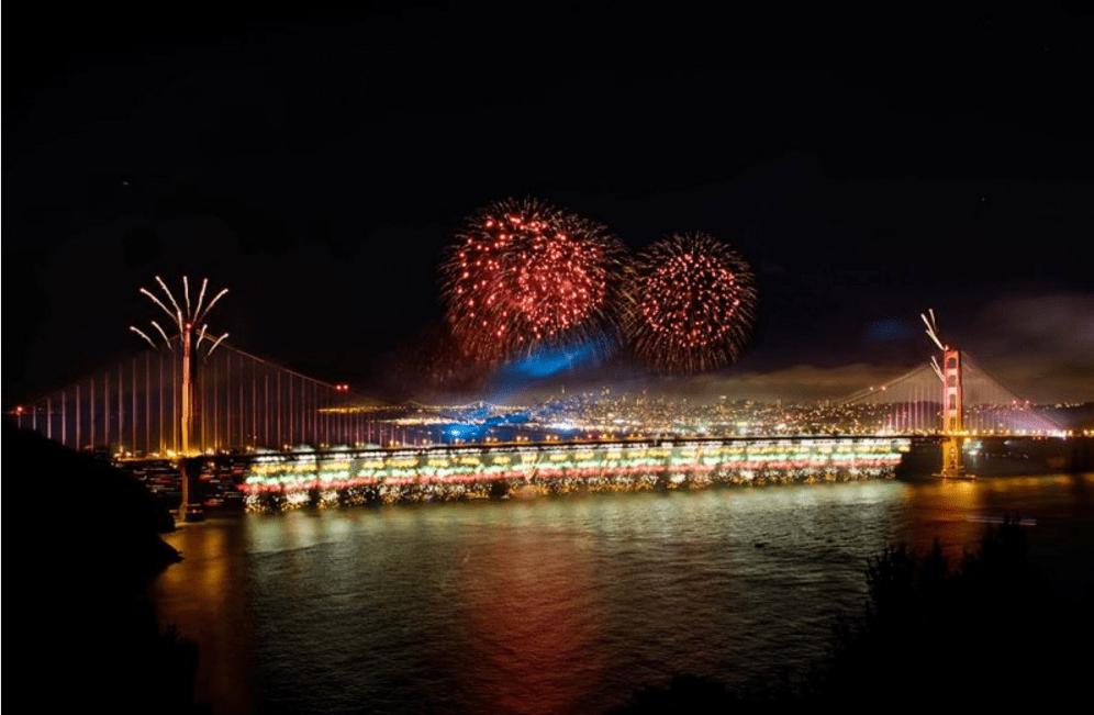 Golden Gate 75th Anniversary Fireworks Show
