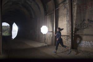 Strobe Lighting in a Tunnel