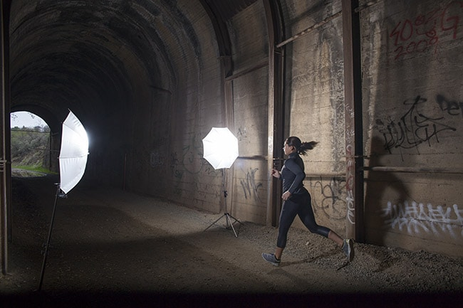 Strobe Lighting in a Tunnel