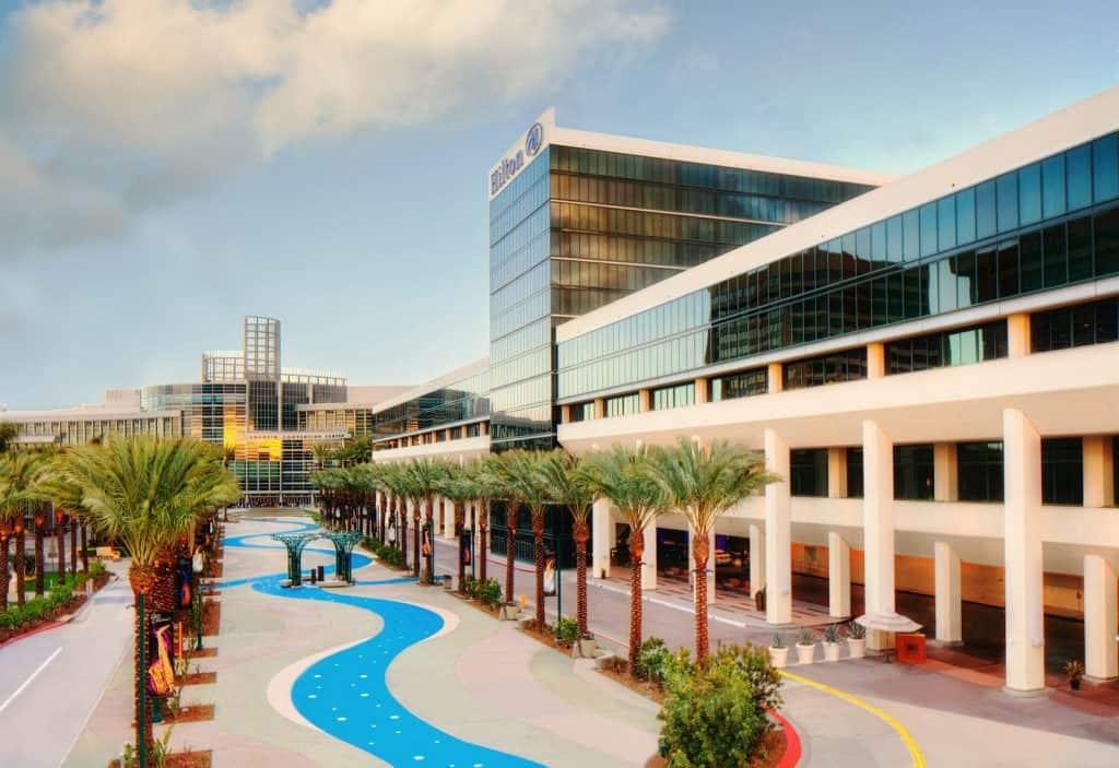 Exterior image of the Anaheim Hilton