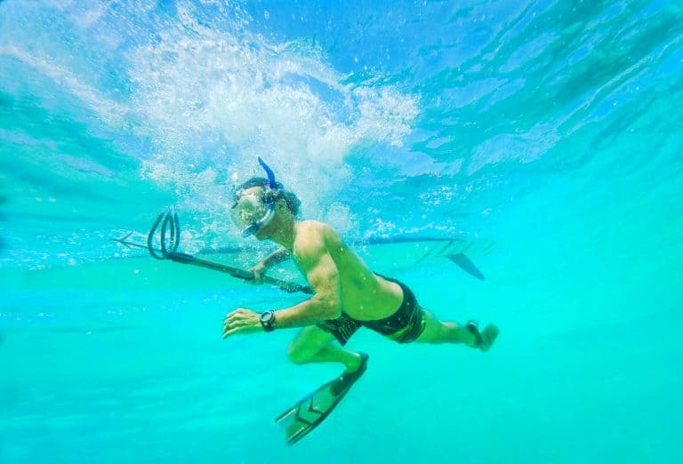 Underwater spear fisherman