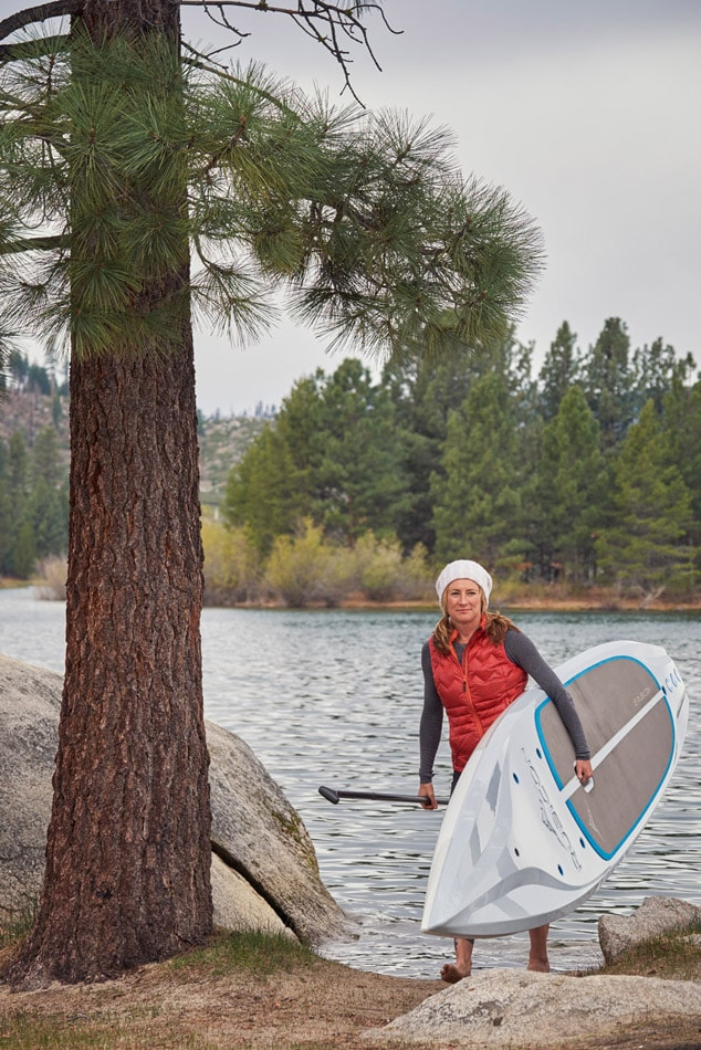 Winter Paddle Board Fun With Nikki Greg and Tahoe SUP