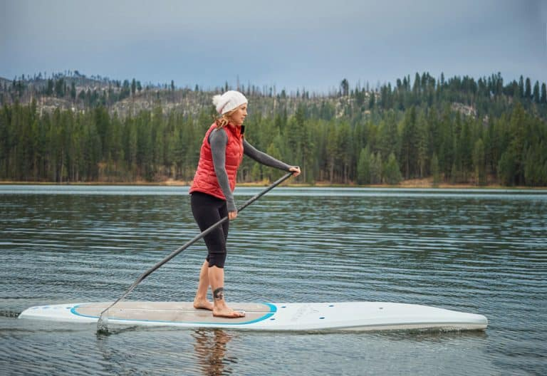 Paddleboard time with Nikki Greg on the Tahoe SUP Rubicon