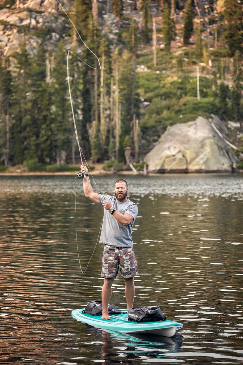 Flyfishing from a Tahoe SUP paddle board with Bubba Henderson
