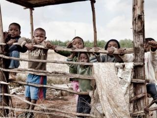 Swaziland Kids Goofing Around