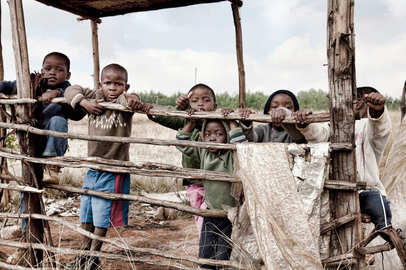 Swaziland Kids Goofing Around