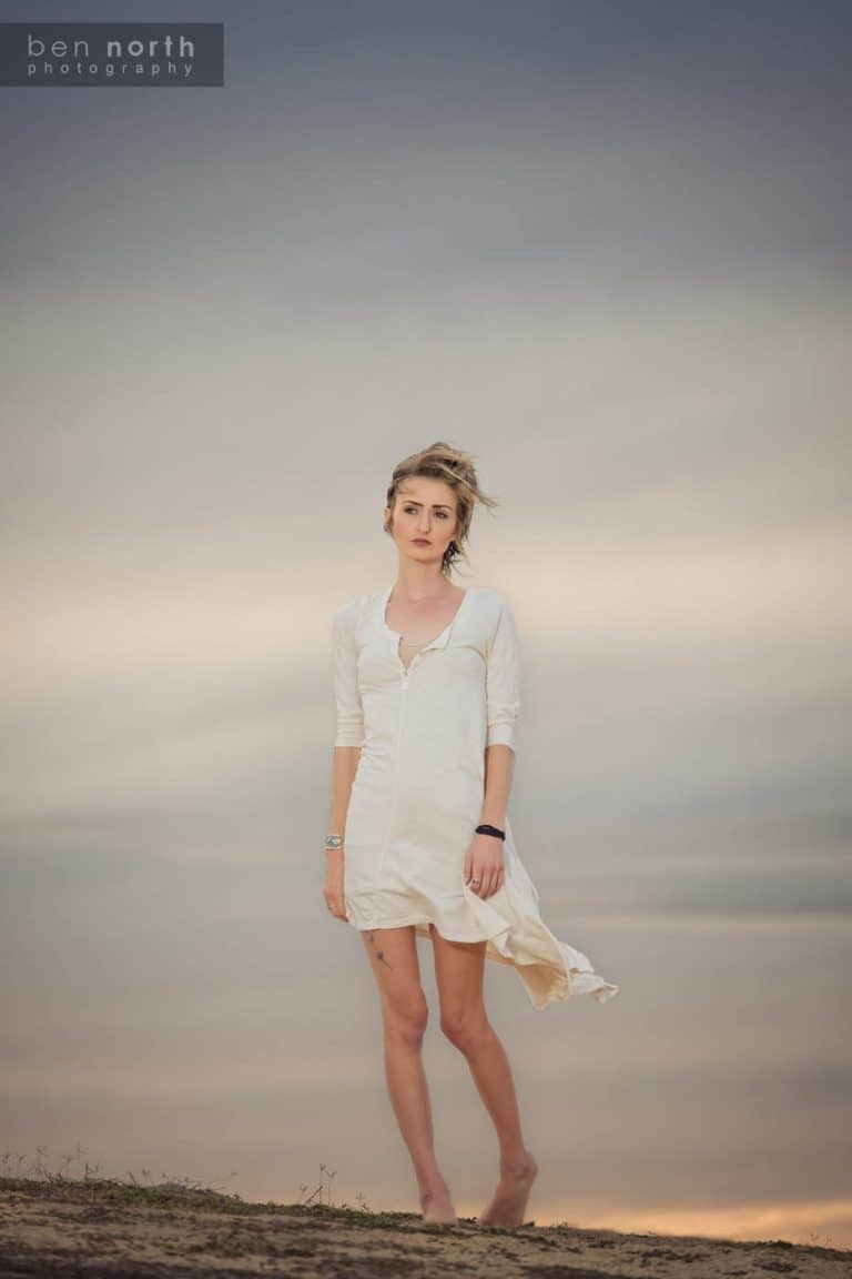 Model Sara Bernson in a Fresh Laundry tunic.