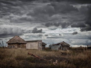 Storm over a small farm in Swaziland